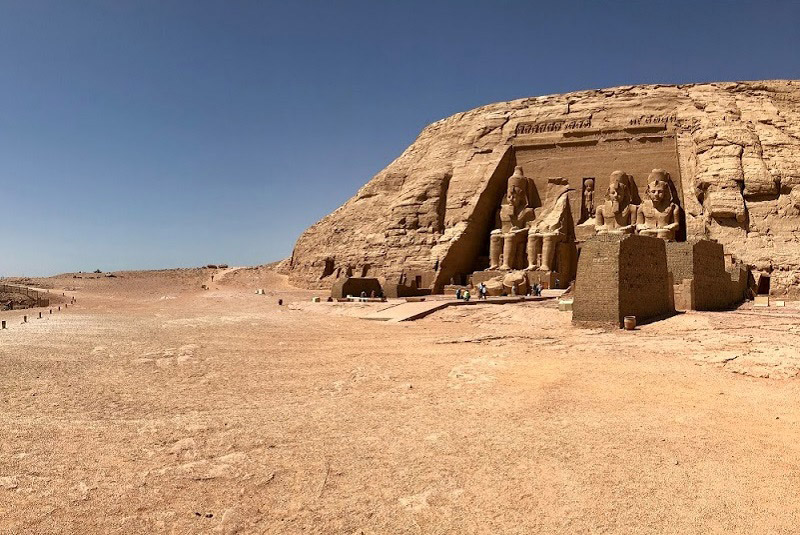 Temple at Abu Simbel in southern Egypt