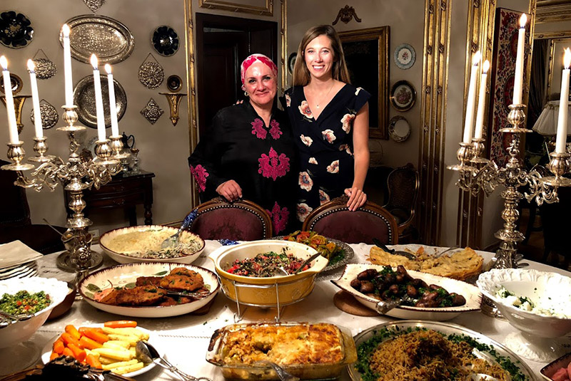 Home-cooked dinner in Cairo, Egypt