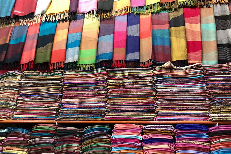 Colorful scarves for sale in Luxor, Egypt