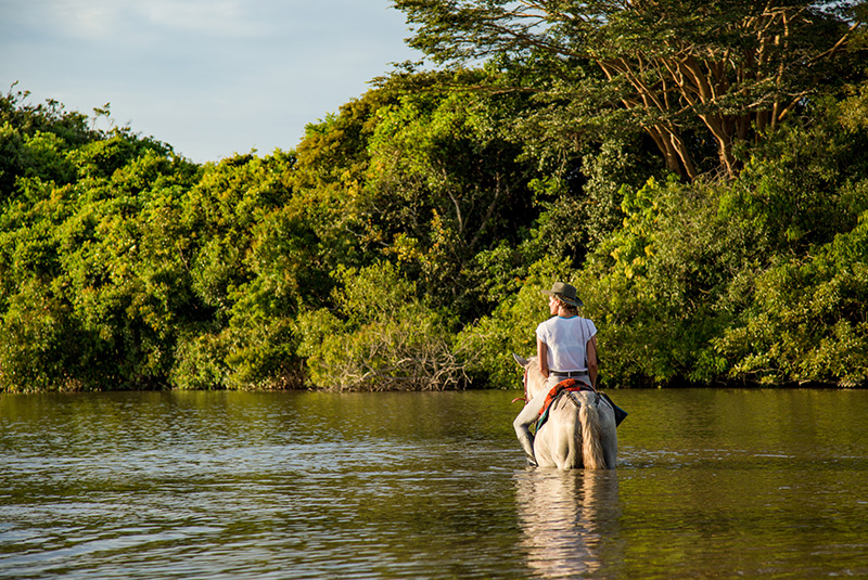 Horseback riding at Corocora Camp in Los Llanos, Colombia