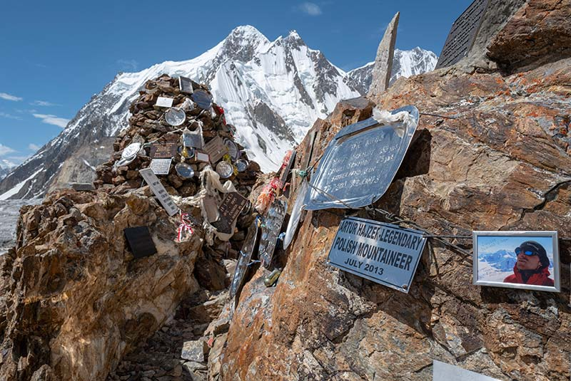 The K2 Memorial, located above K2 Base Camp, Pakistan