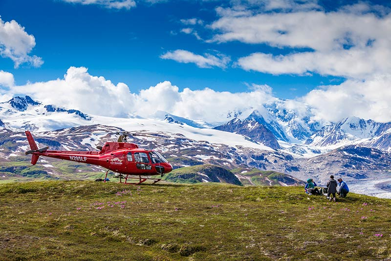 Winterlake Lodge helicopter excursion to a remote picnic spot in the Alaska Range, United States