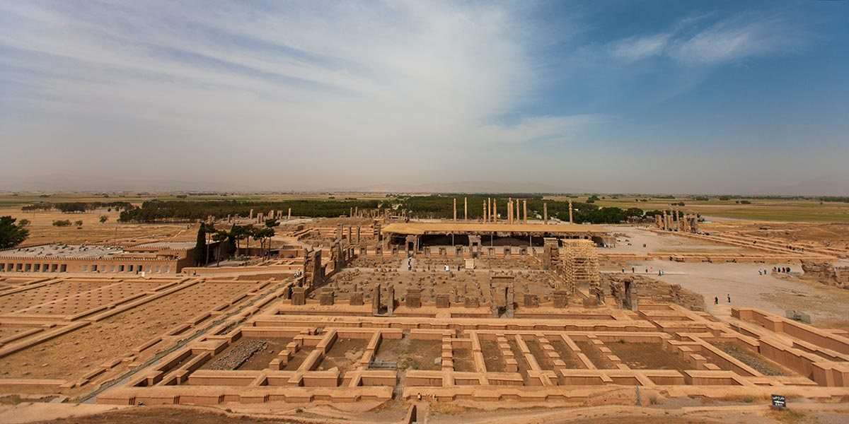 The expansive ruins of Persepolis, outside of Shiraz, Iran