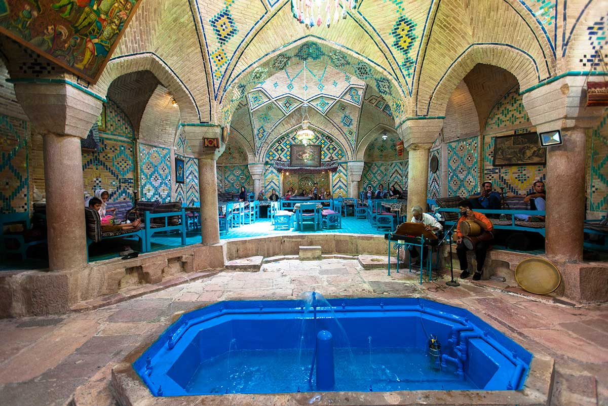 An old hammam that has been transformed into a restaurant in Yazd, Iran.