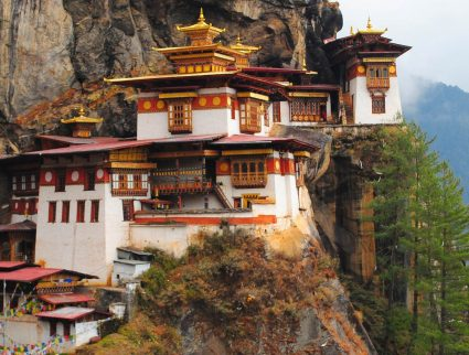 Taktsang Tiger's Nest Temple in the Paro Valley, Bhutan