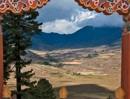 View of the Phobjikha Valley in Central Bhutan