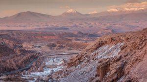 Striking Rock formations in the Atacama Desert, Chile