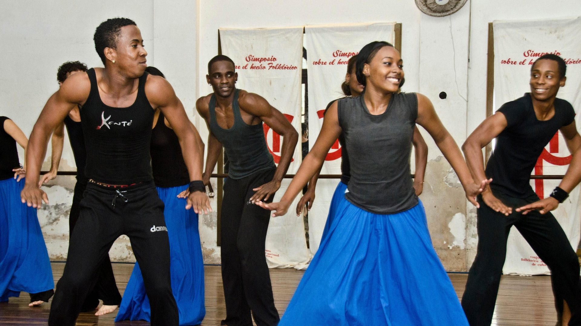 Cuban Ballet Folklorica practicing in Havana, Cuba