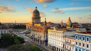 Aerial view of downtown Havana, Cuba