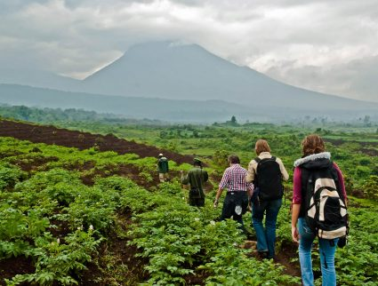 Hiking in Virunga National Park in the Democratic Republic of Congo