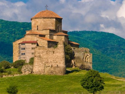 The Jvari Monastery at the UNESCO site of Mtskheta in Georgia