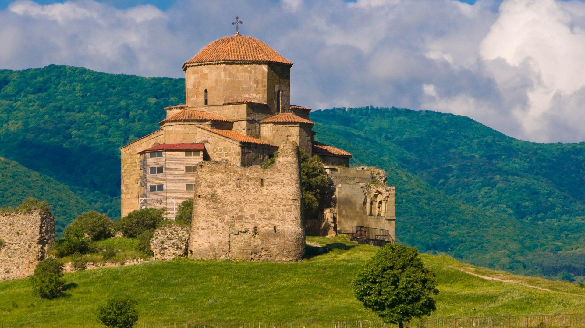 The Jvari Monastery at the UNESCO site of Mtskheta in Georgia