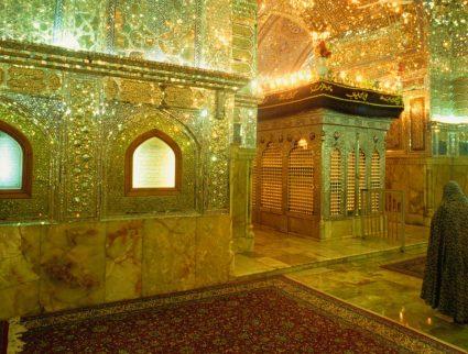 Inside Shiraz's Sayyed Mir Ahmad mausoleum, Iran