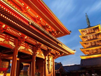 Asakusa Kannon Temple and Hozomon Gate and Pagoda, Tokyo, Japan with GeoEx