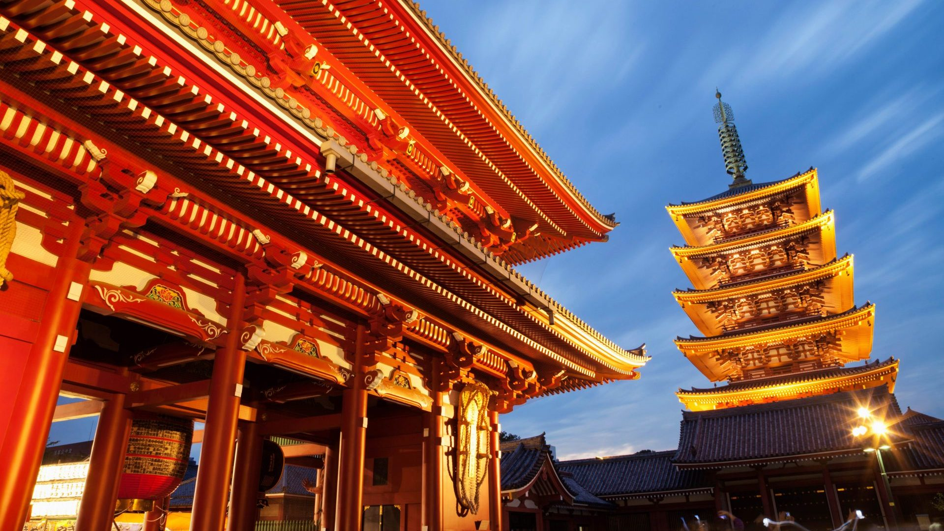 Asakusa Kannon Temple and Hozomon Gate and Pagoda, Tokyo, Japan with GeoEx