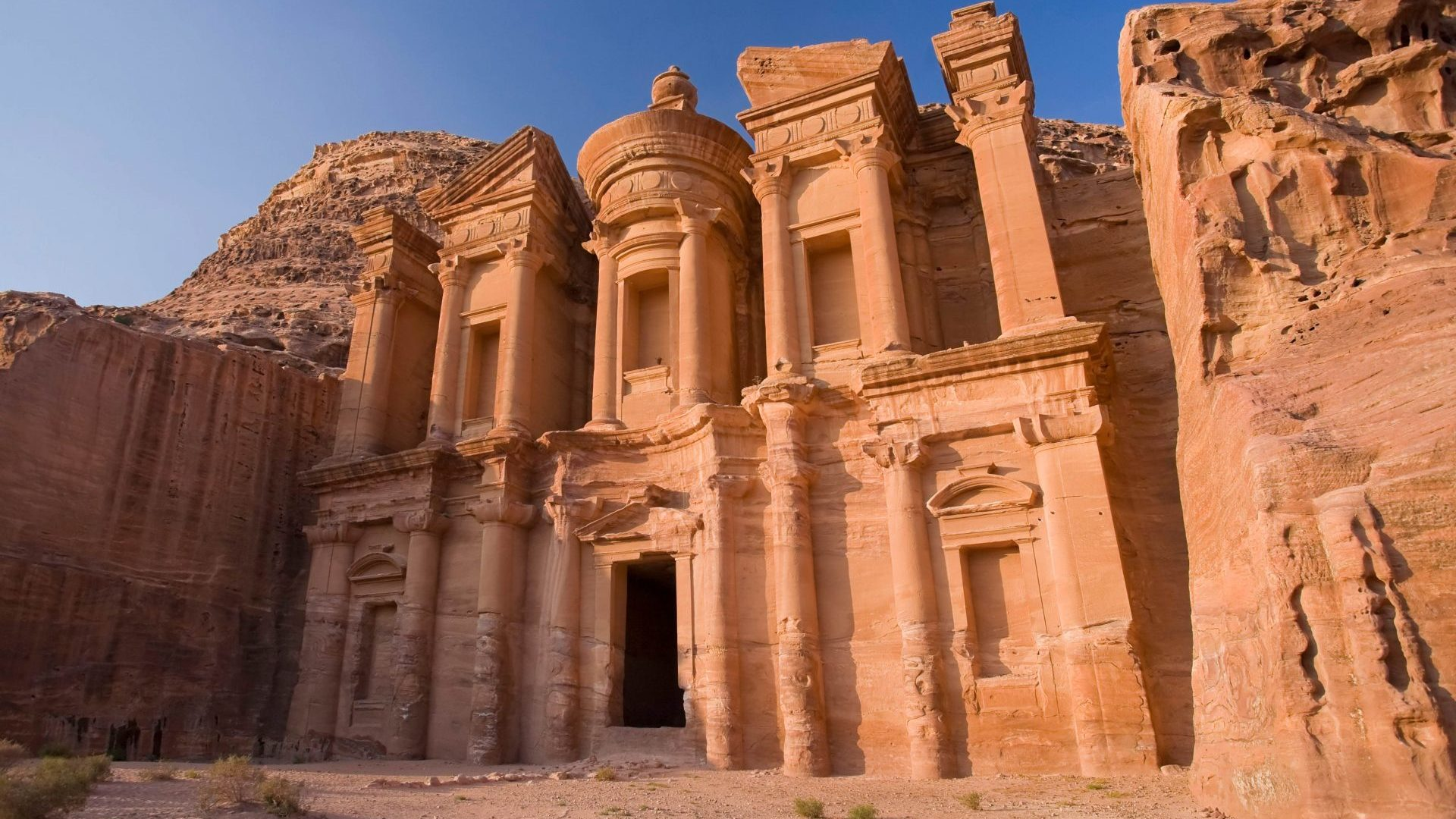 The Monastery (Al-Deir) at Petra, a UNESCO World Heritage Site, Jordan