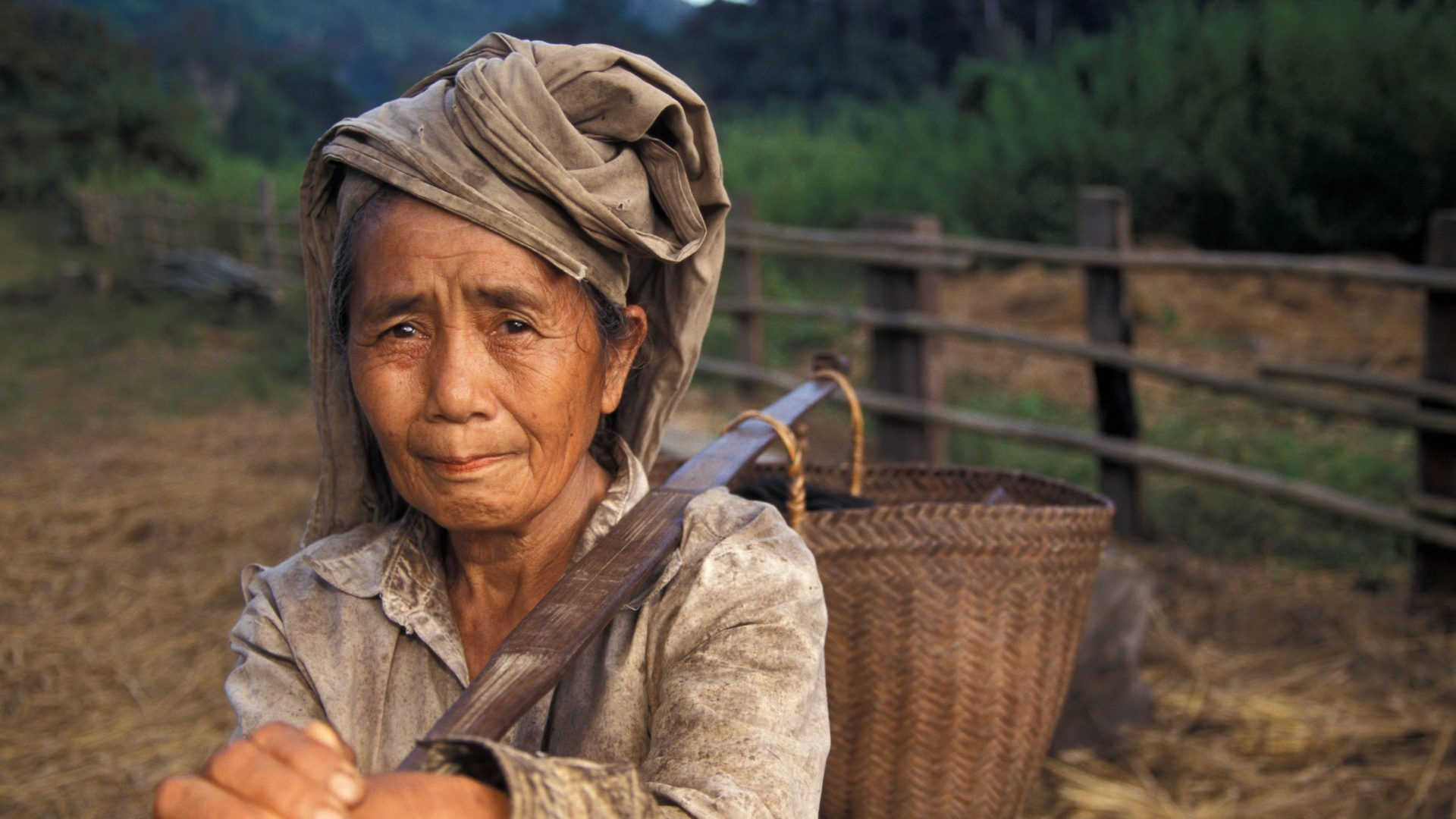 Hmong village woman, Laos with GeoEx
