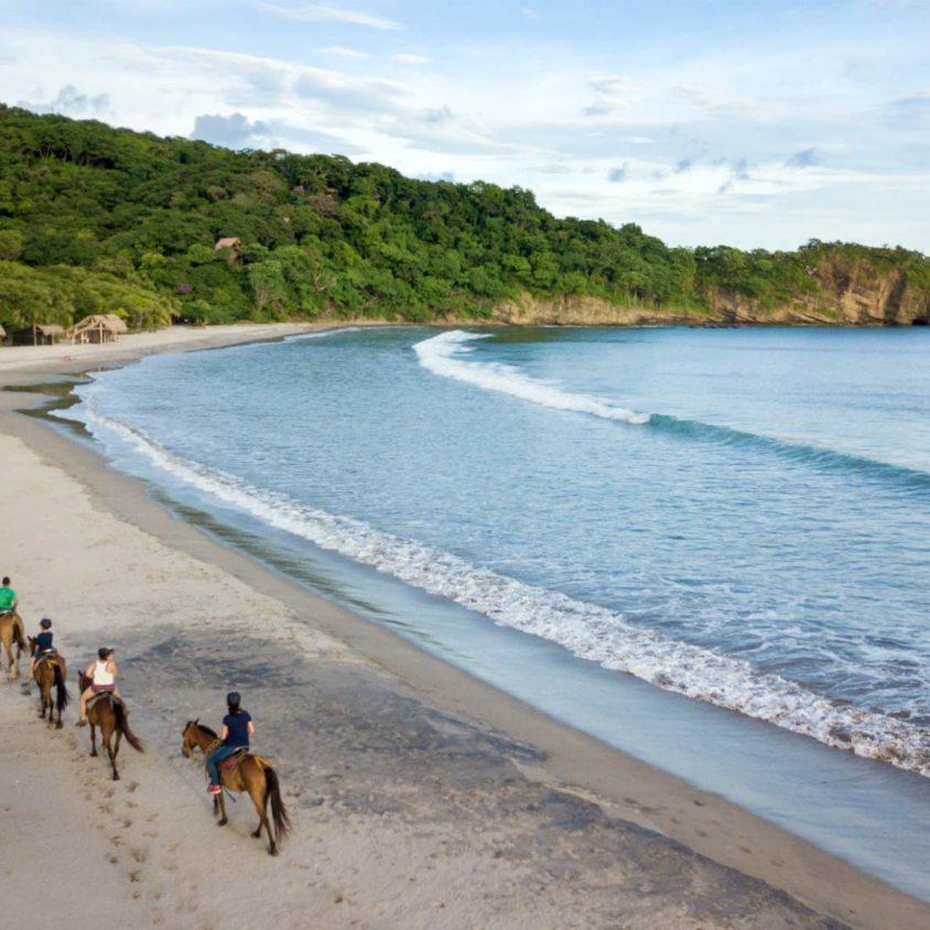 Horseback riding at Morgans Rock in Nicaragua