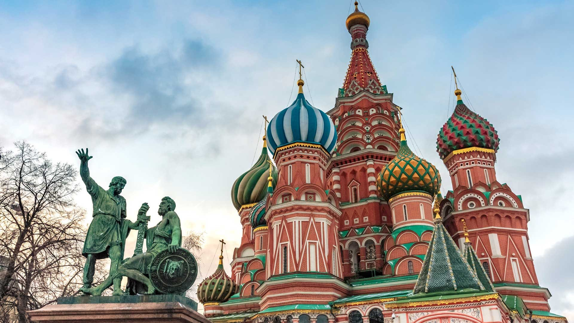 St. Basil's Cathedral in Red Square, Moscow, Russia with GeoEx