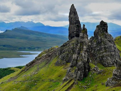 Rugged landscape of the Isle of Skye, Scotland