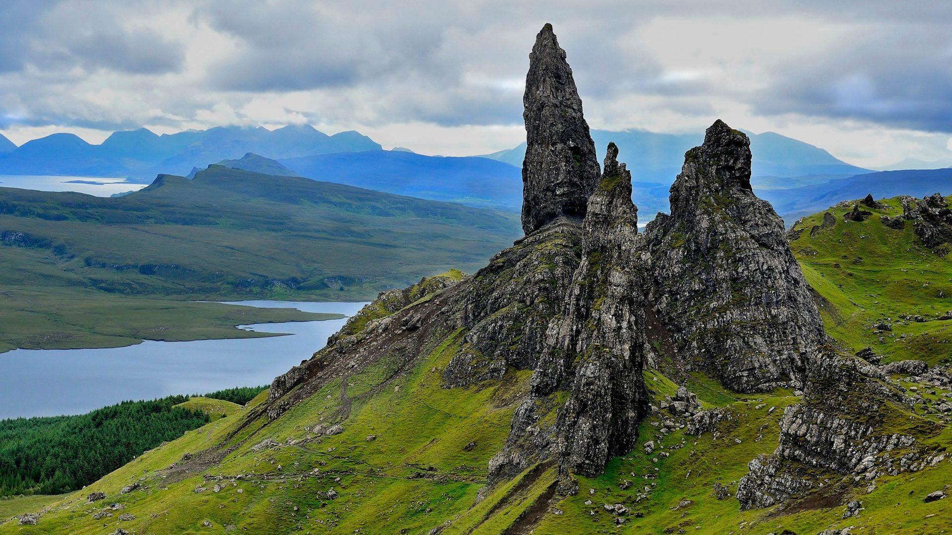 Rugged landscape of the Isle of Skye, Scotland