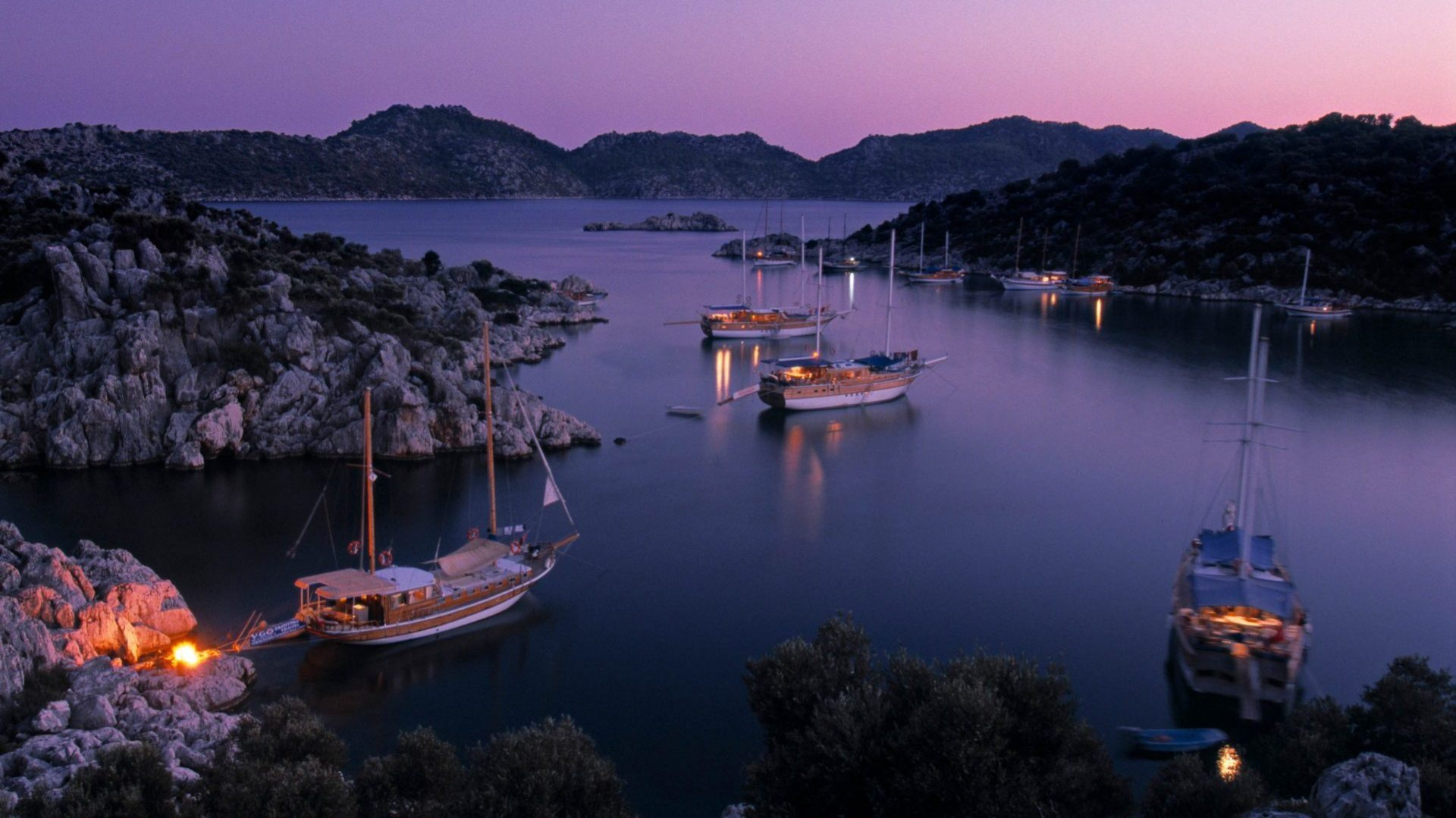 Gulets on the waters of the Turqouise Coast, Turkey with GeoEx