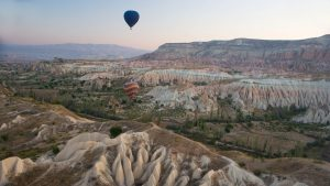 Cappadoccia's stunning landscapes from a hot air balloon, Turkey with GeoEx