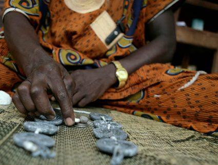 A fortune teller in Benin, West Africa