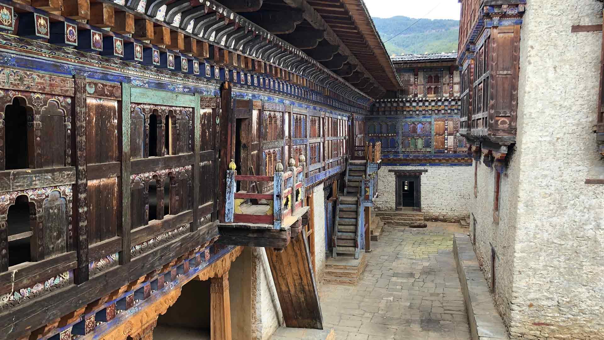 Bhutan, temple exterior