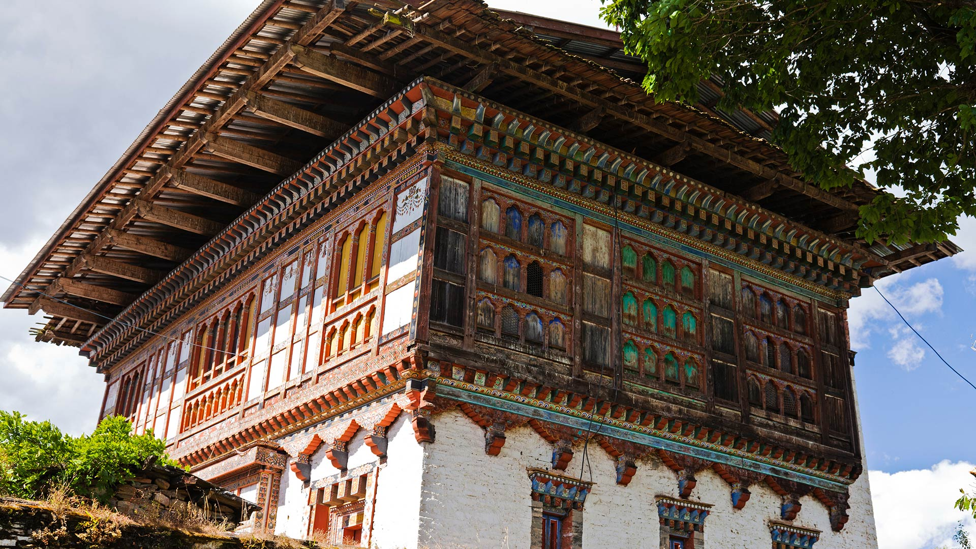 The 16th century Ugyencholing Palace, an ancient manor house turned local museum in central Bhutan