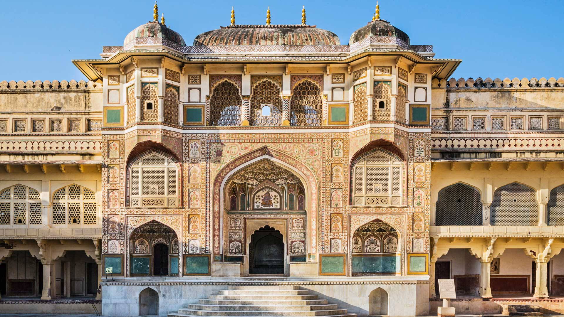 Gate leading to the main palace of the Amber Fort in Rajasthan, India with GeoEx
