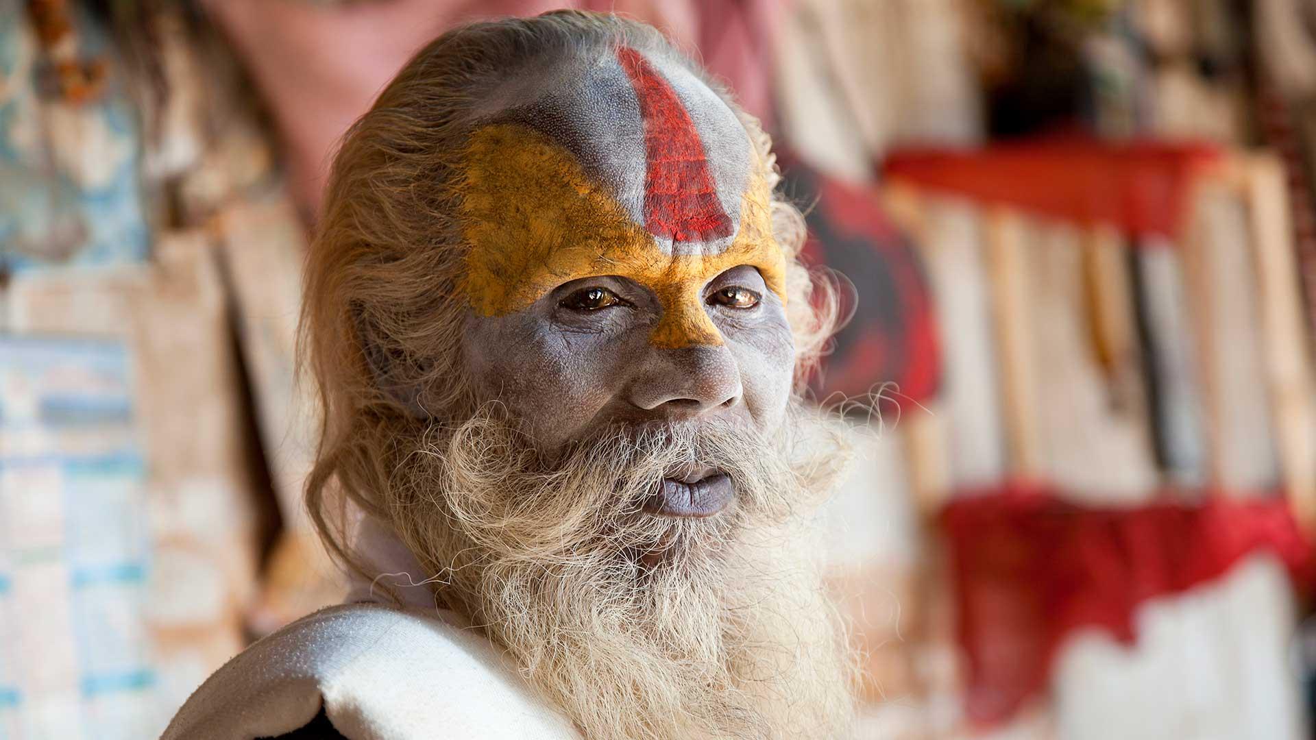 Sadhu, or holy man, in Kathmandu, Nepal
