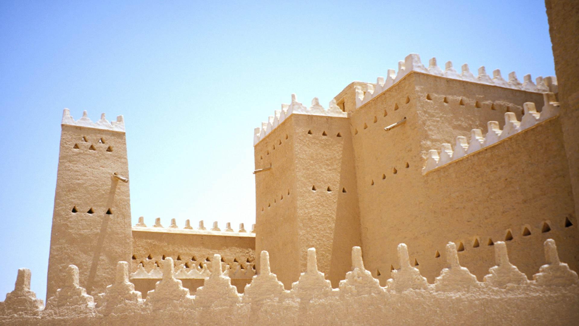 Architectural details of Palace of Saad Bin Saud, Saudi Arabia