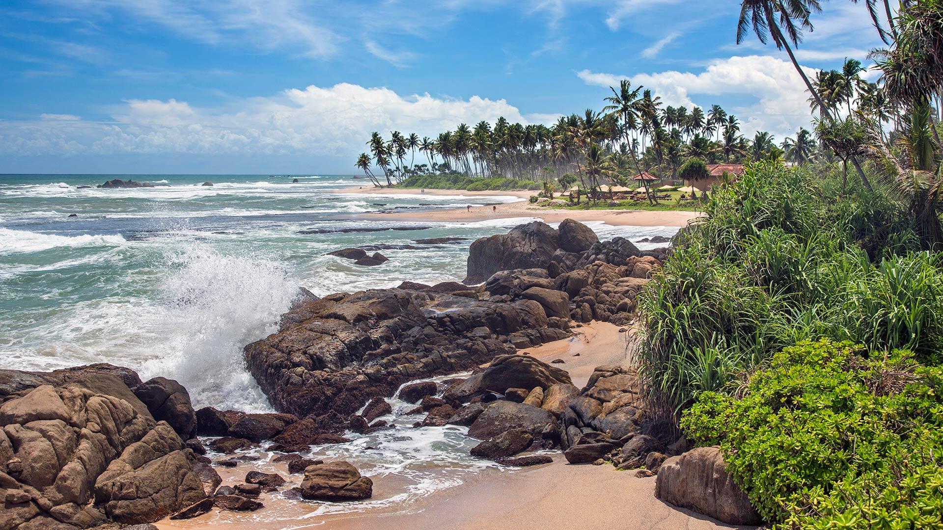Coastline near Galle, Sri Lanka