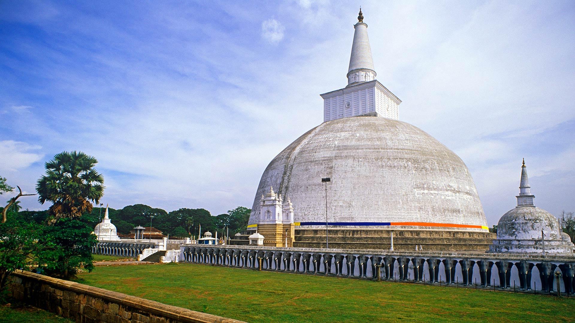 Stupa at Anuradhapura in Sri Lanka's Golden Triangle