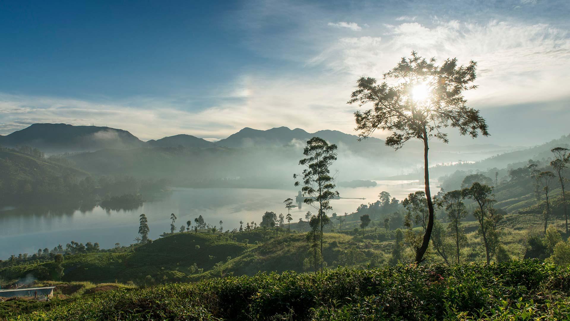 Castlereagh Lake in Sri Lanka's Tea Country