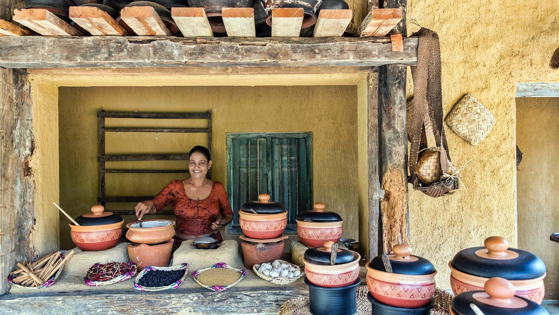Village style curries and food, Sri Lanka