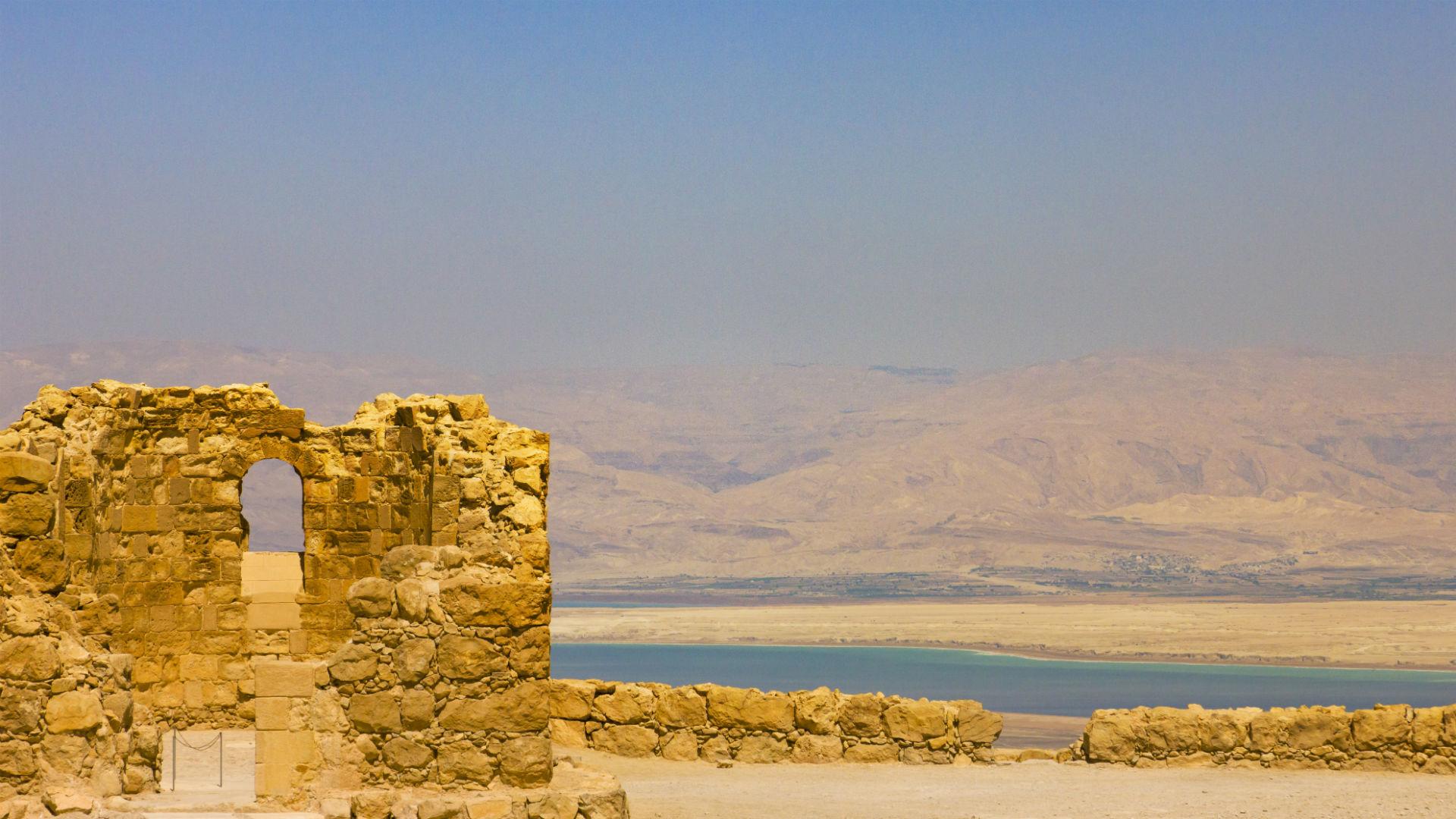 UNESCO World Heritage site, Masada ruins, overlooking the Dead Sea, Israel.