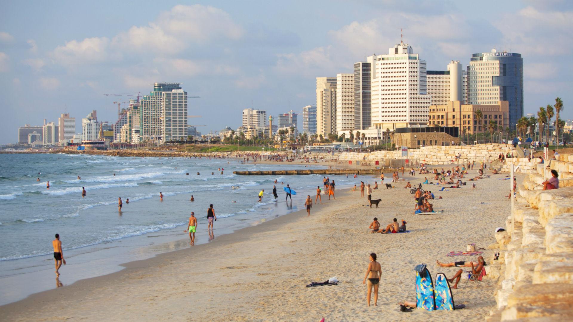 Beach view of Tel Aviv, Israel