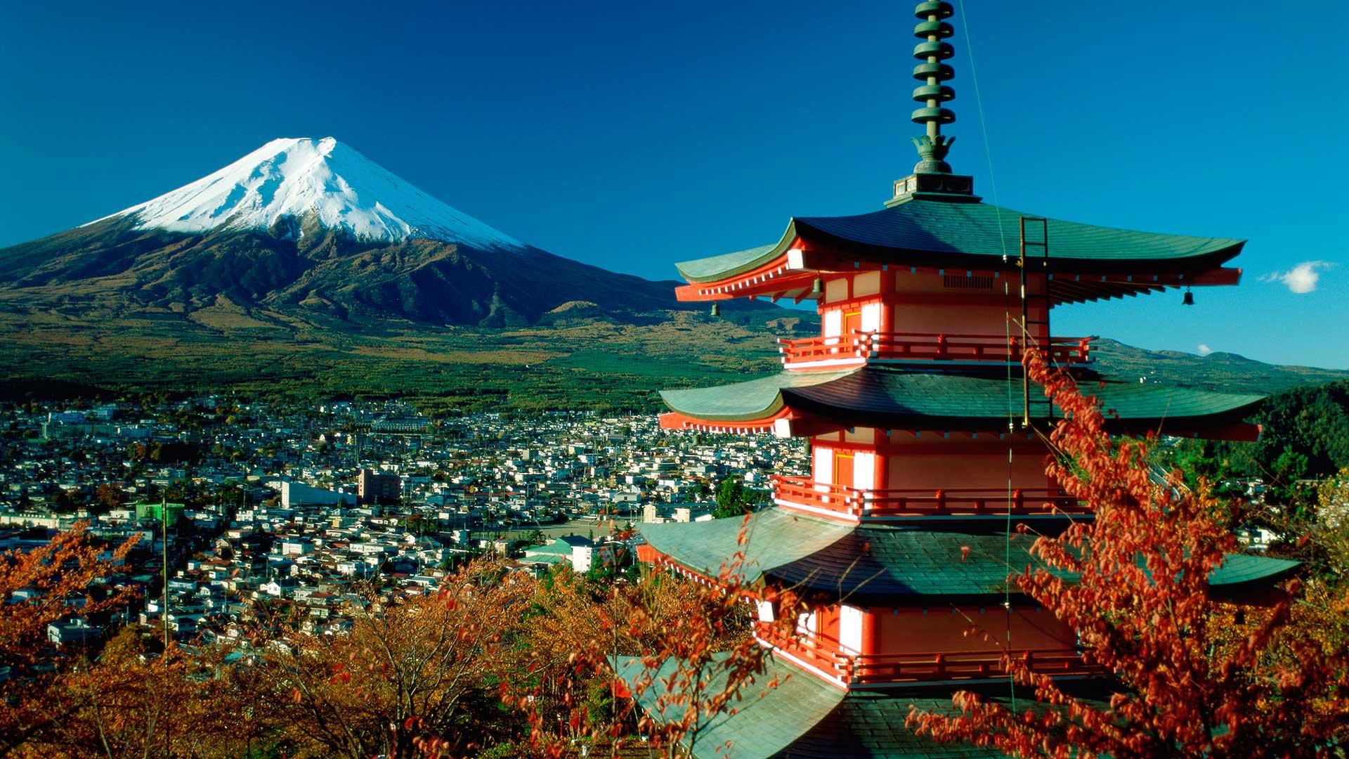 Mount Fuji & Pagoda, Hakone, Japan