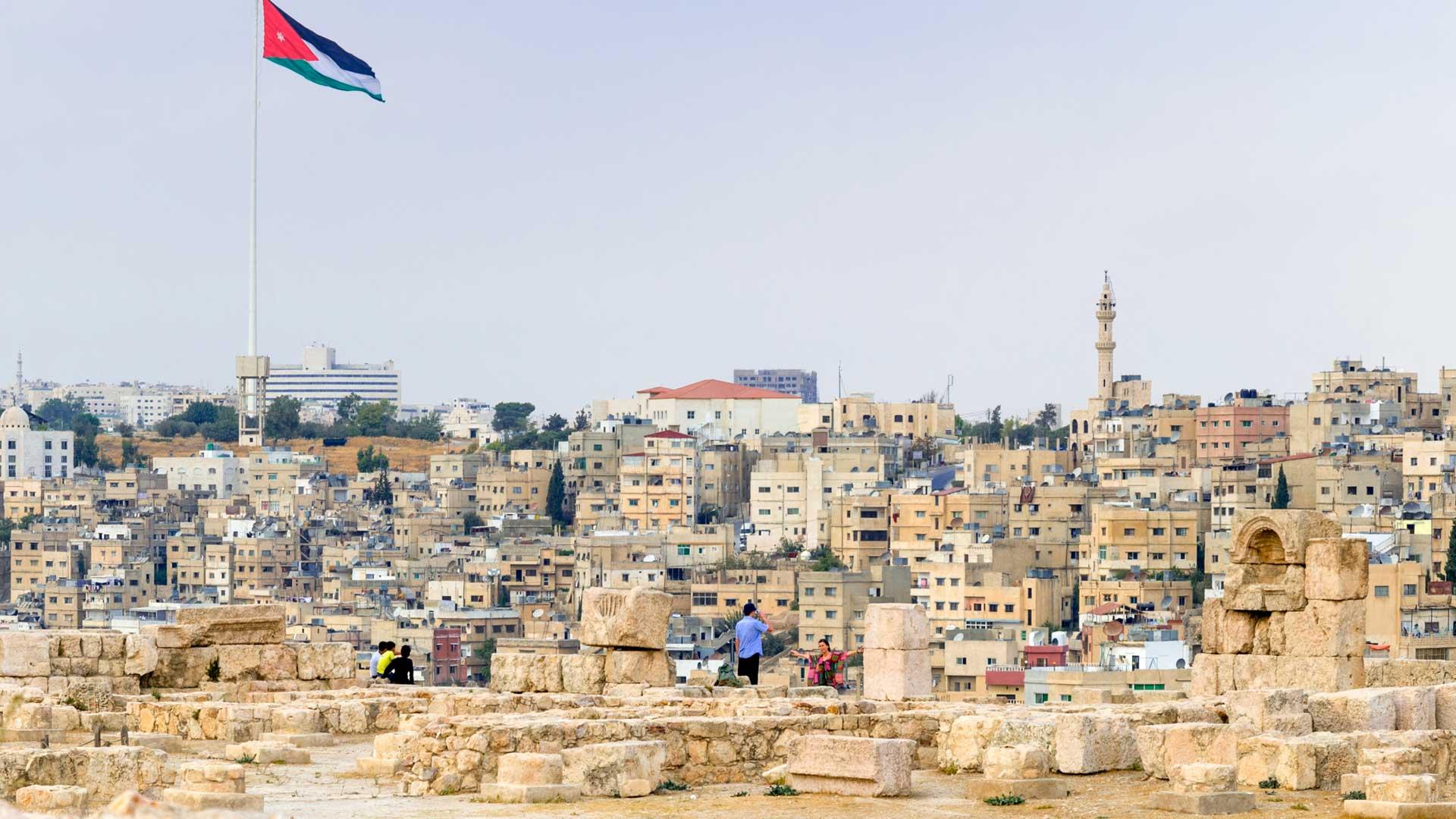 Landscape of Amman from the Citadel, Jordan
