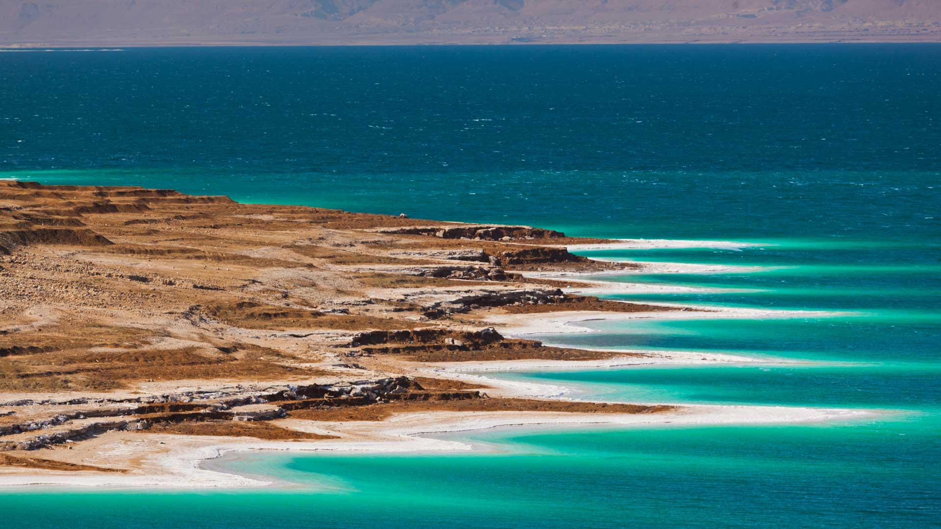 Soothing waters of the Dead Sea, Jordan