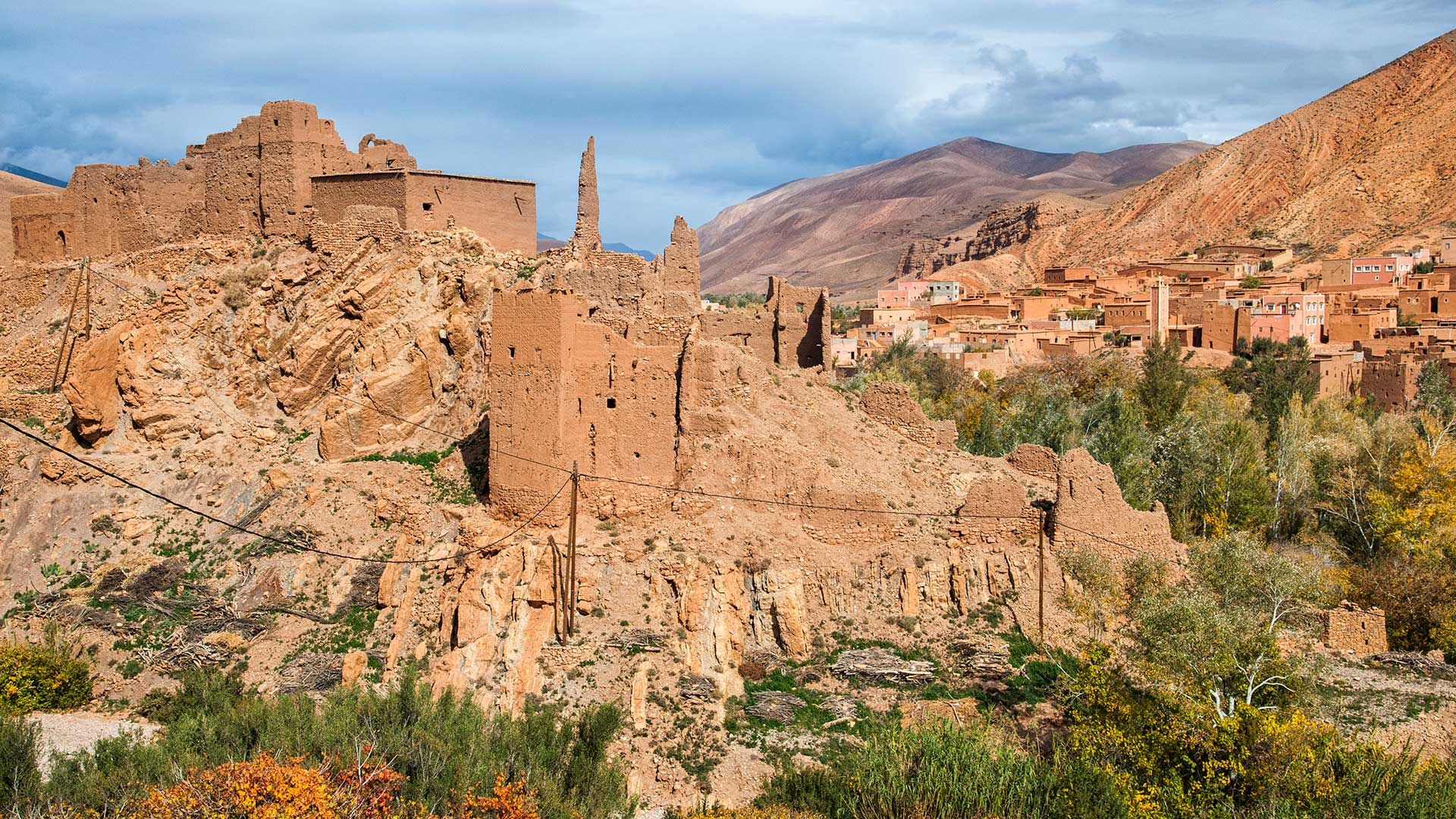 Traditional Berber town on the Route des Kasbahs, Ouarzazate Province