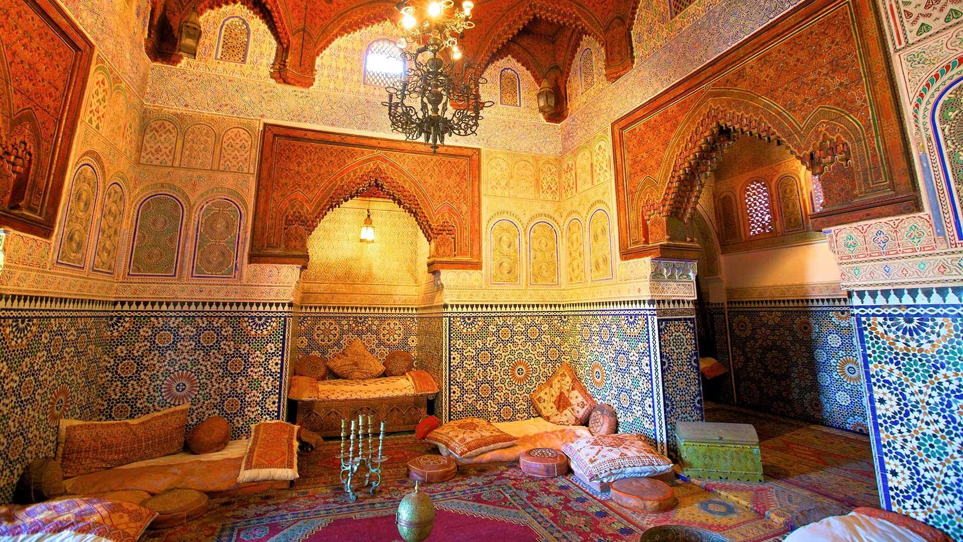 Interior of Dar Jamai Museum, Meknes