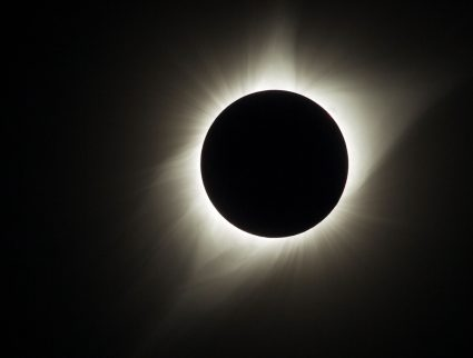 View of eclipse corona