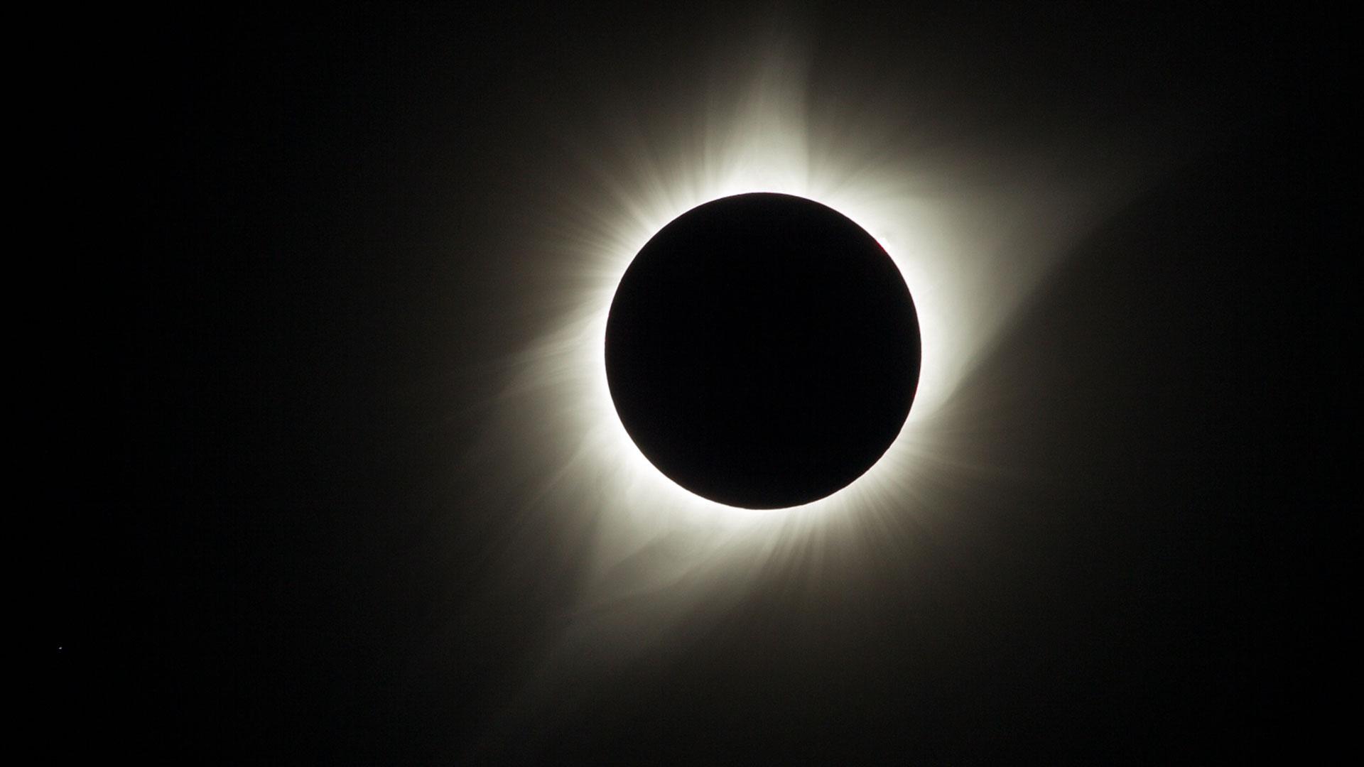 View of eclipse corona
