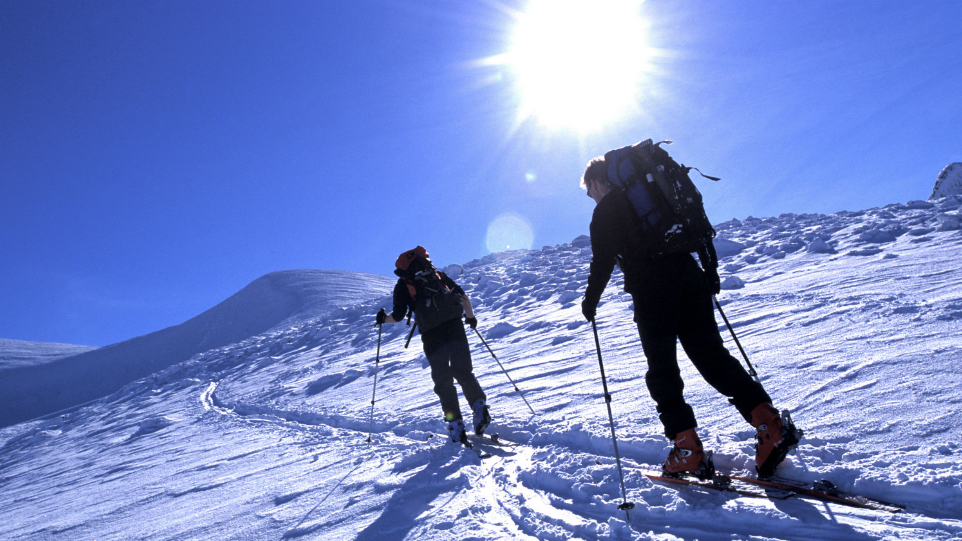 Ski touring in Cairngorms, Scotland