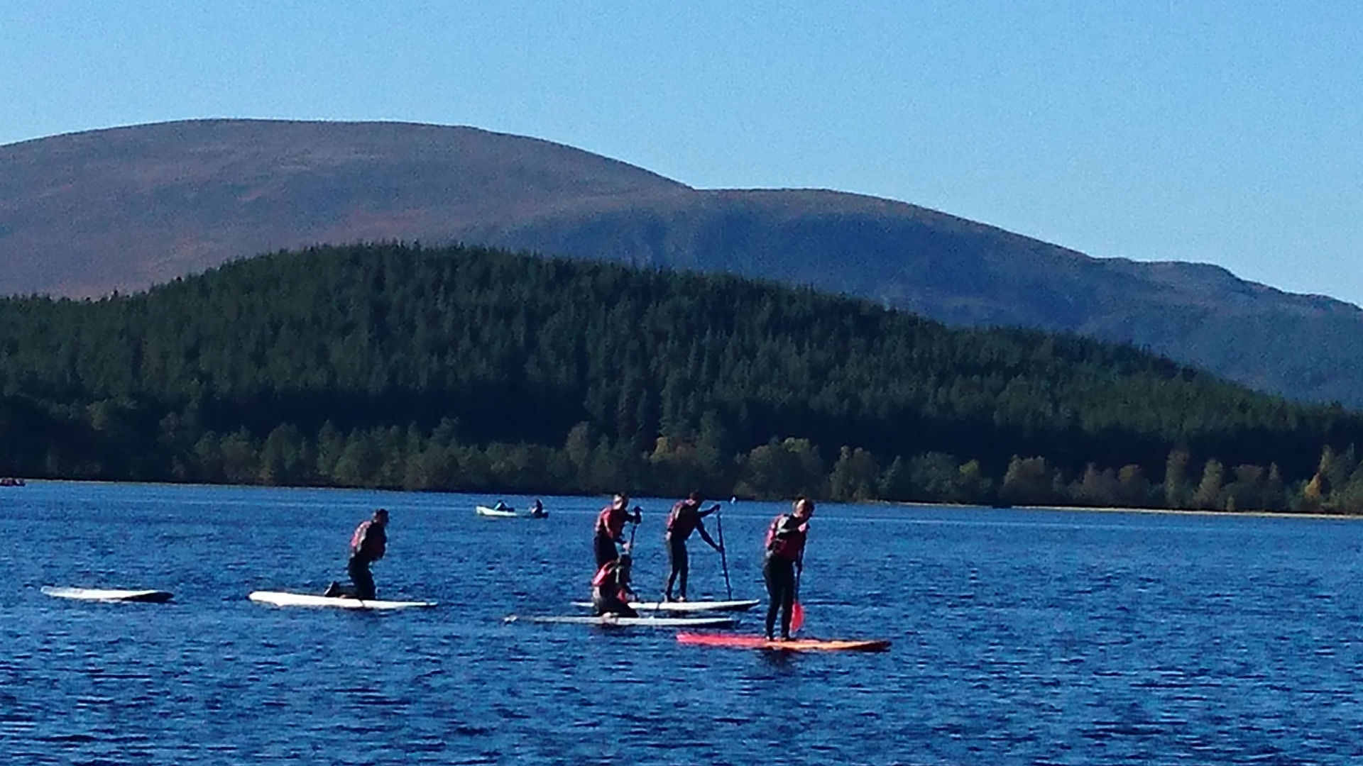 Stand up paddle boarding, Scotland