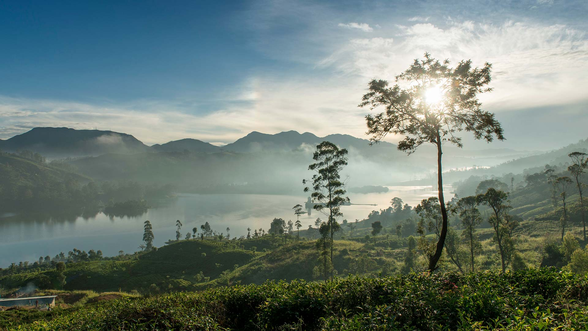 View of Castlereagh lake, Hatton, Sri Lanka