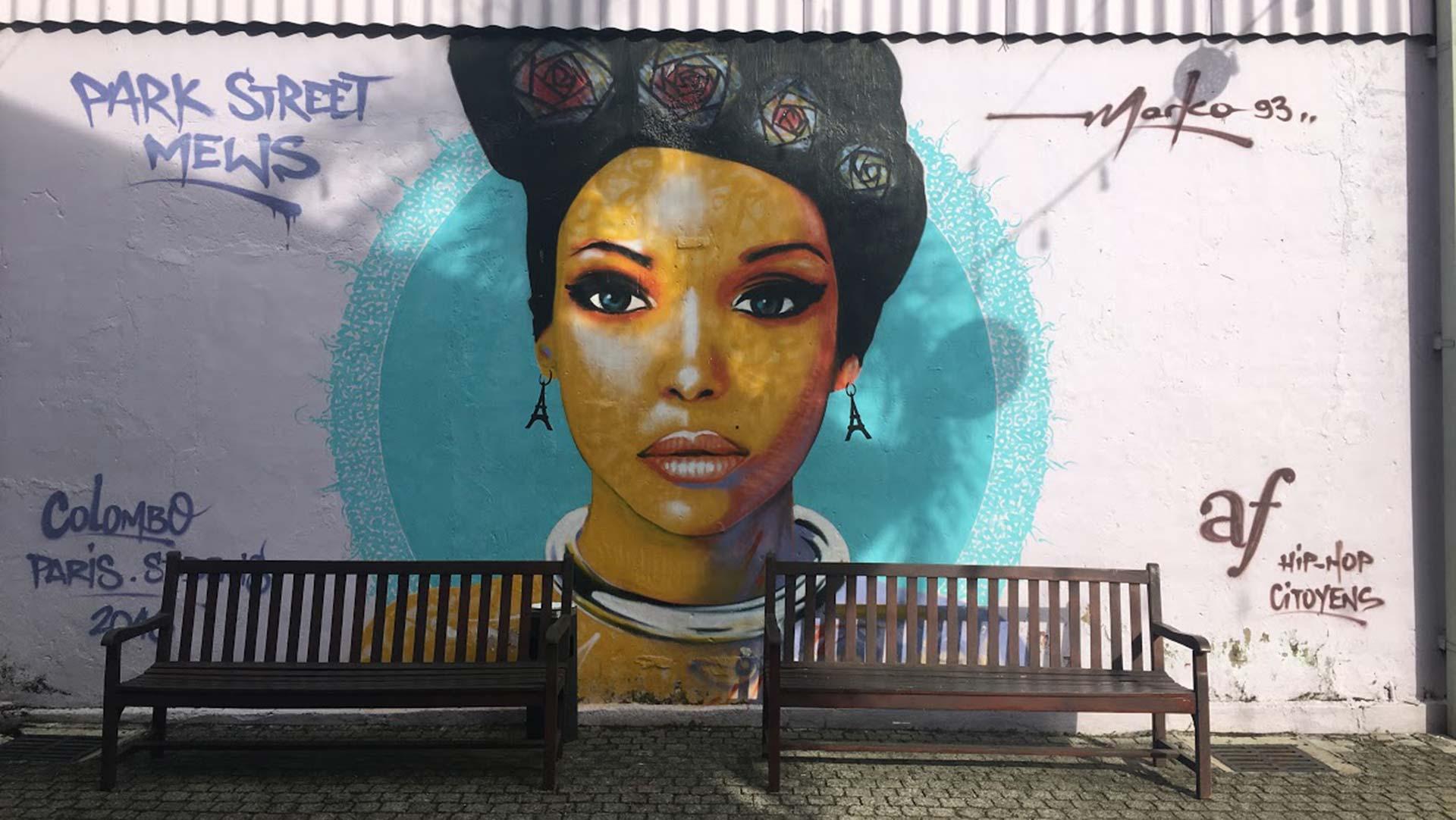 Park Street Mews mural, Colombo, Sri Lanka